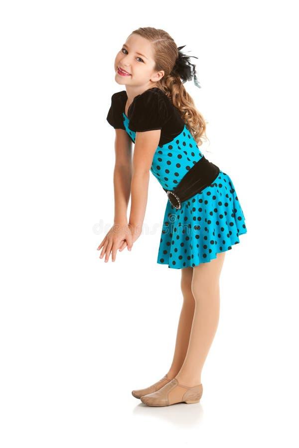 Dançarino: Jazz Dancer Smiles For Camera bonita imagens de stock