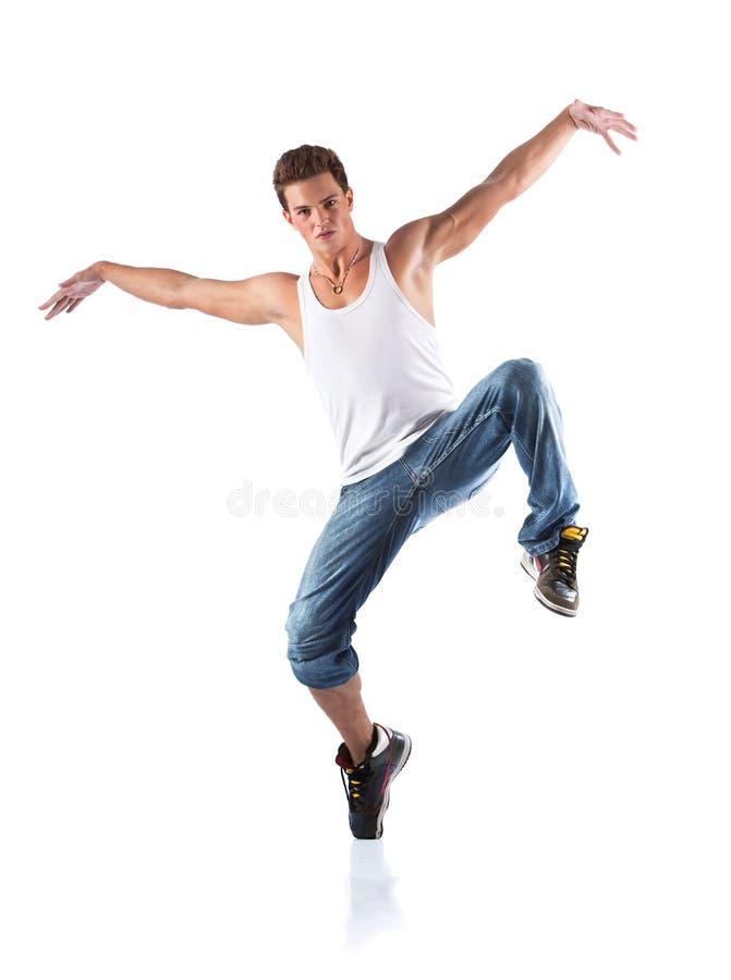 Dançarino masculino fotografia de stock