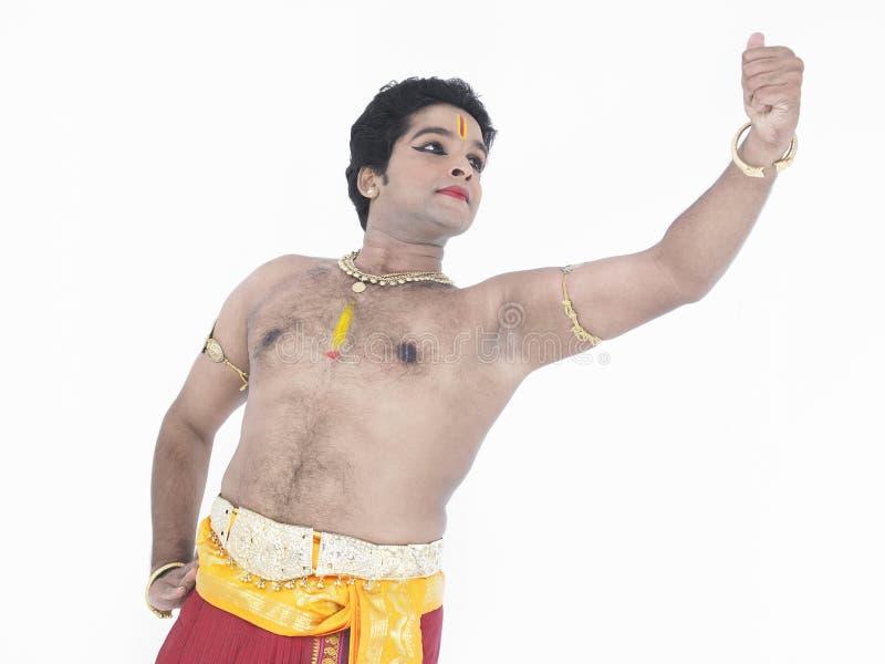 Dançarino masculino clássico indiano foto de stock