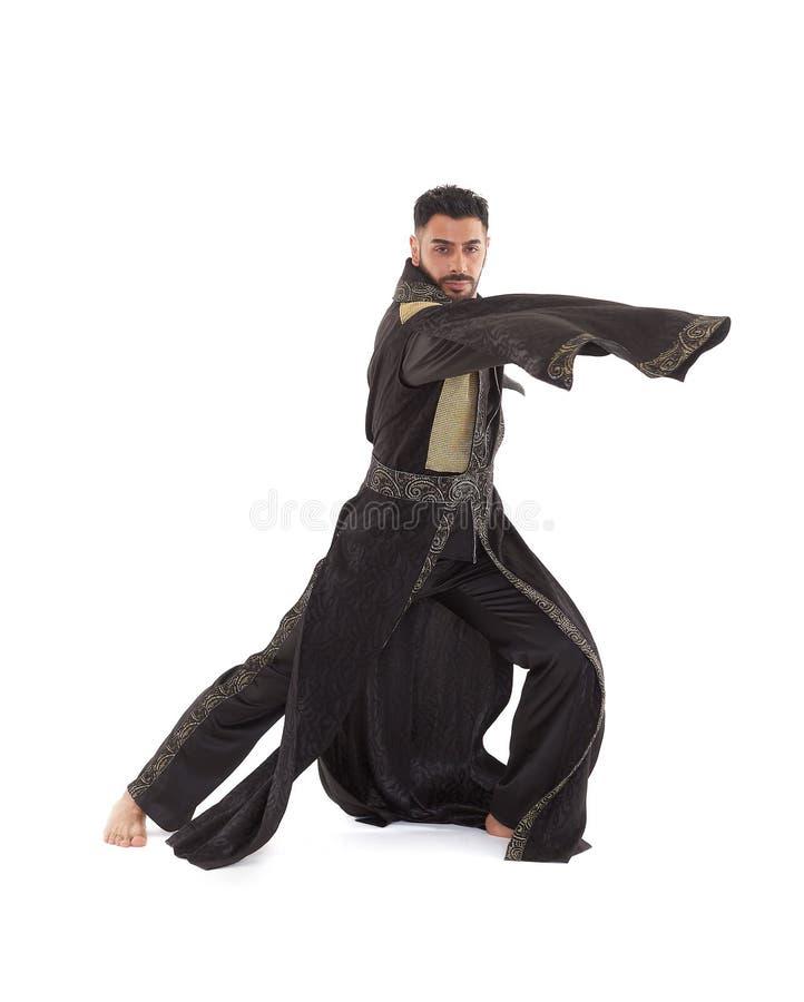 Dançarino masculino no traje oriental foto de stock royalty free