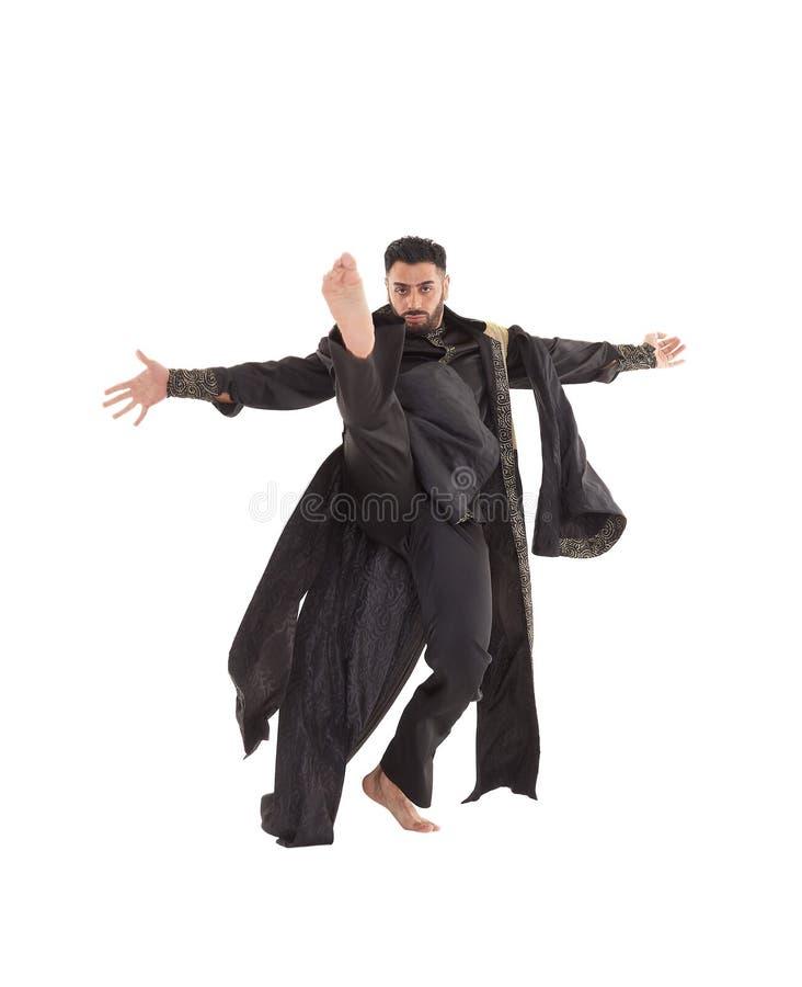 Dançarino masculino no traje oriental fotos de stock royalty free