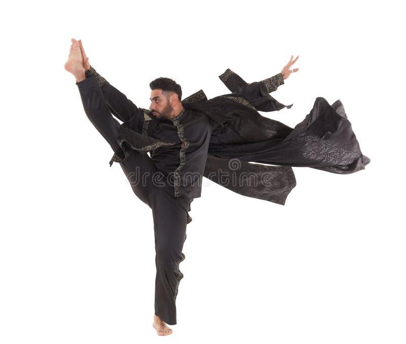 Dançarino masculino no traje oriental imagem de stock royalty free