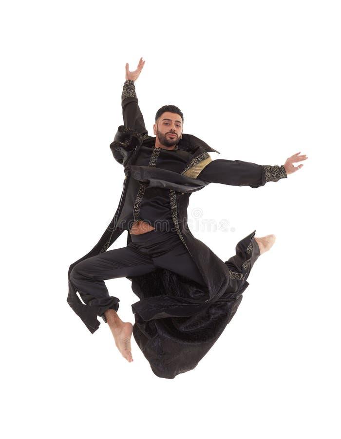 Dançarino masculino no traje oriental fotografia de stock