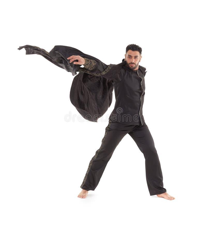 Dançarino masculino no traje oriental imagem de stock