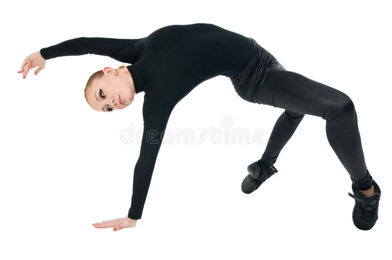 Dançarino moderno fotografia de stock