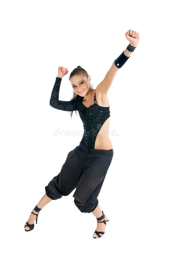 Dançarino moderno alegre imagens de stock royalty free