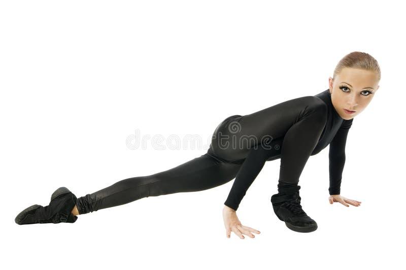 Dançarino moderno bonito fotografia de stock royalty free