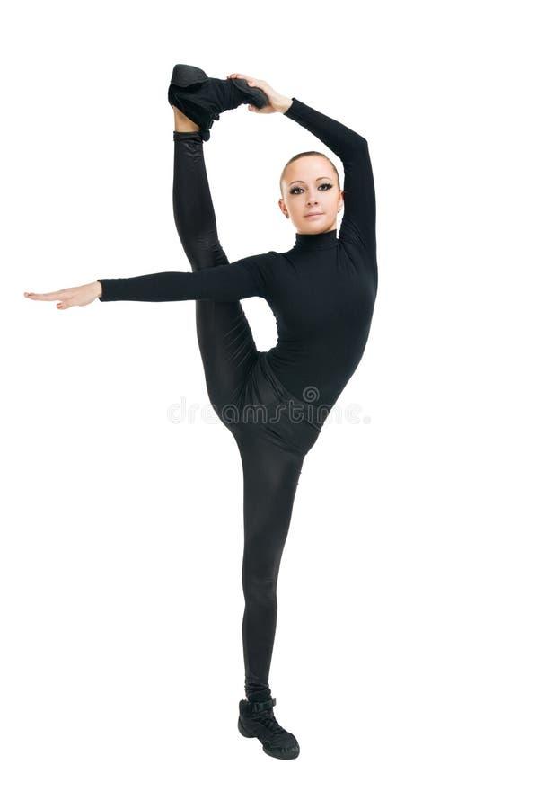 Dançarino moderno com grande esticão fotos de stock royalty free