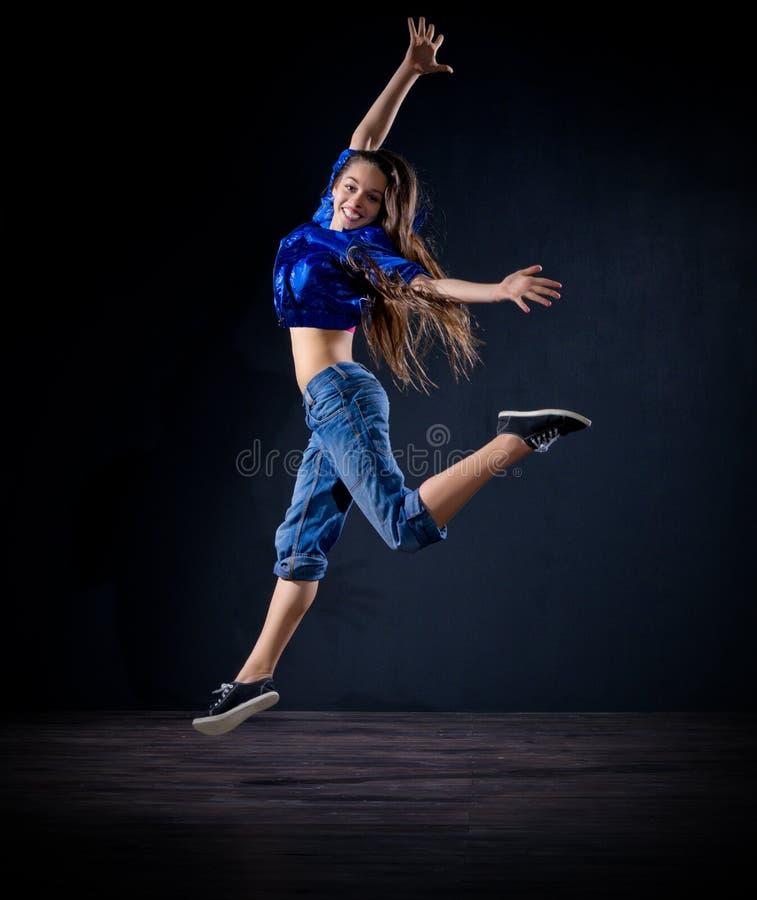 Dançarino moderno da moça (ver normal) imagem de stock