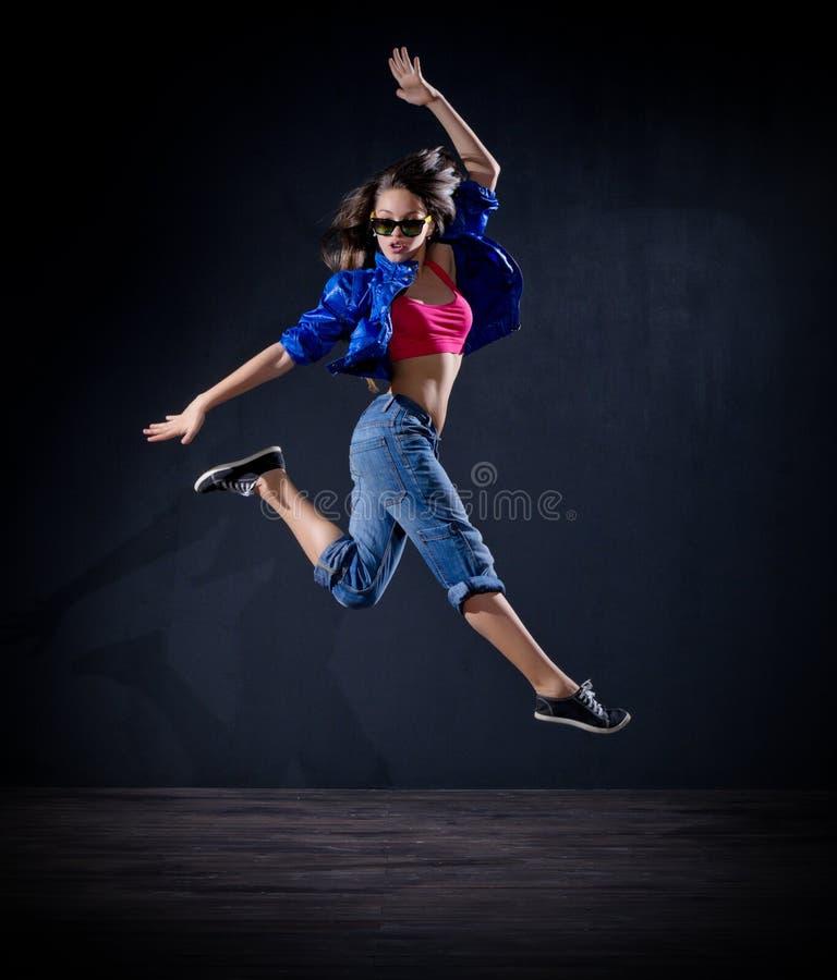 Dançarino moderno da moça (ver normal) fotografia de stock royalty free