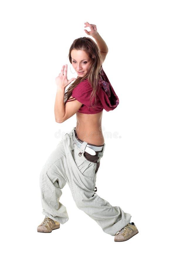 Dançarino moderno da mulher foto de stock