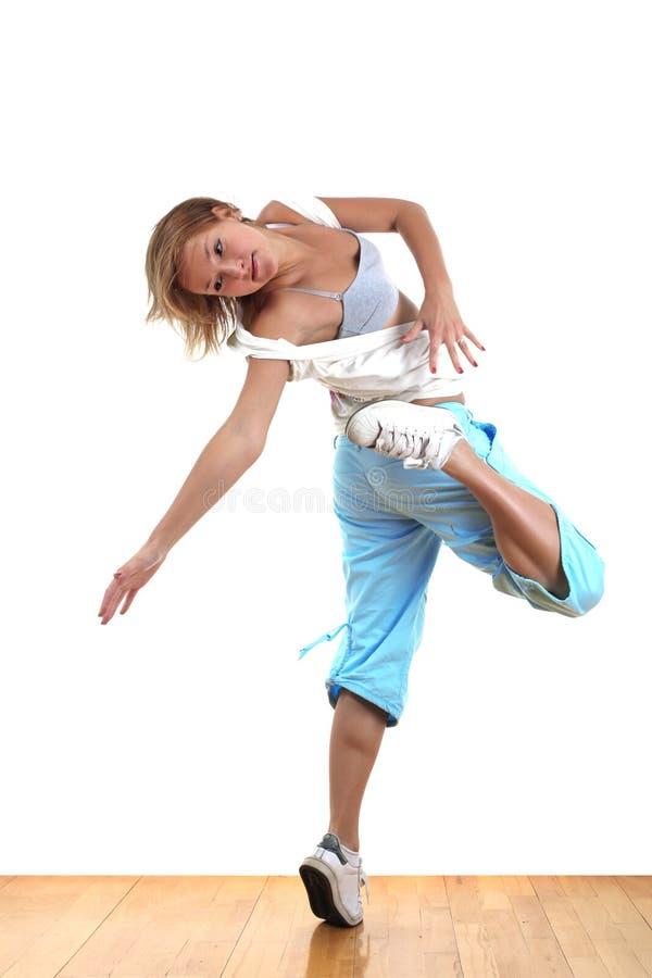 Dançarino moderno da mulher imagem de stock