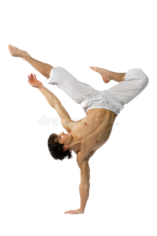 Dançarino moderno do estilo fotos de stock royalty free