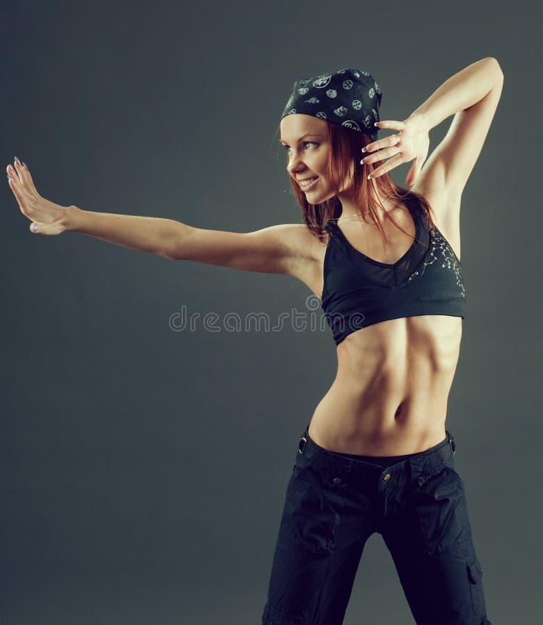 Dançarino moderno do estilo imagens de stock
