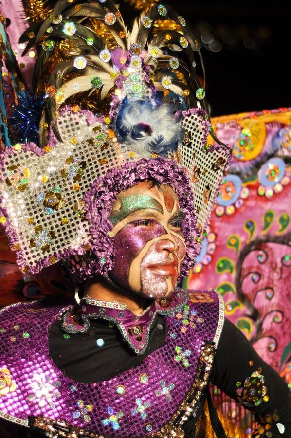Dançarino no carnaval da noite imagem de stock