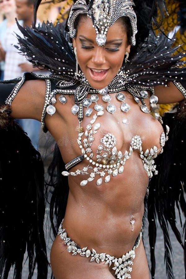 Dançarino no carnaval de Londres Notting Hill imagens de stock