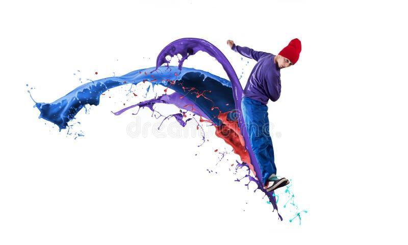 Dançarino no salto fotografia de stock royalty free
