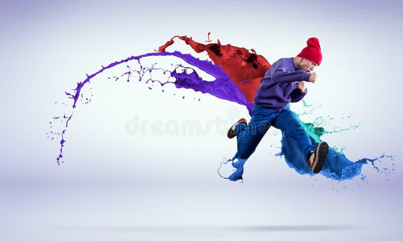 Dançarino no salto fotos de stock royalty free