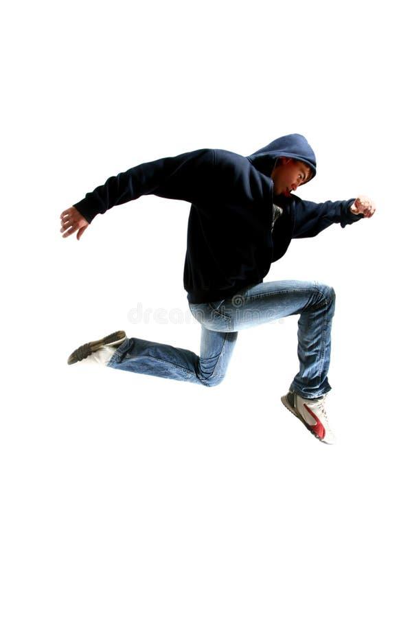 Dançarino novo de salto imagem de stock royalty free