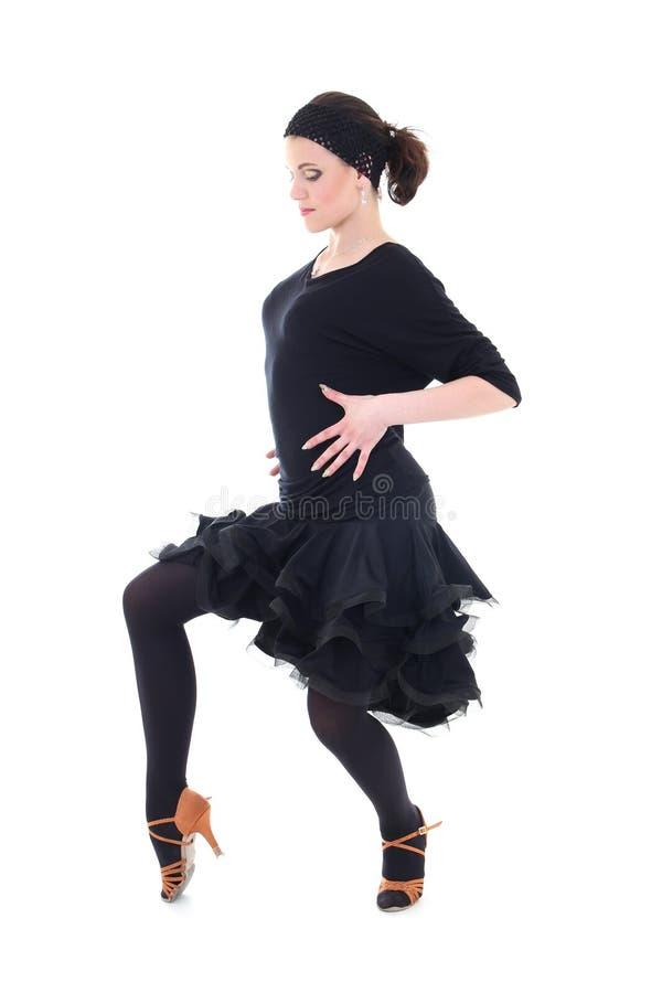 Dançarino novo do latino na ação fotos de stock royalty free