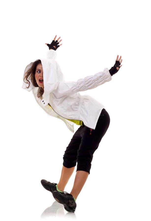 Dançarino novo e à moda fotos de stock royalty free