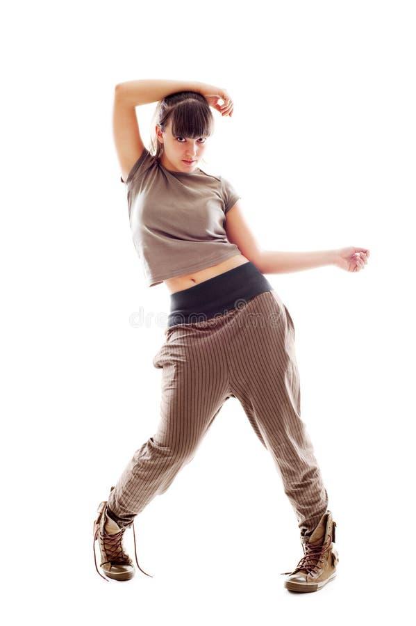 Dançarino novo. isolado no branco fotos de stock royalty free