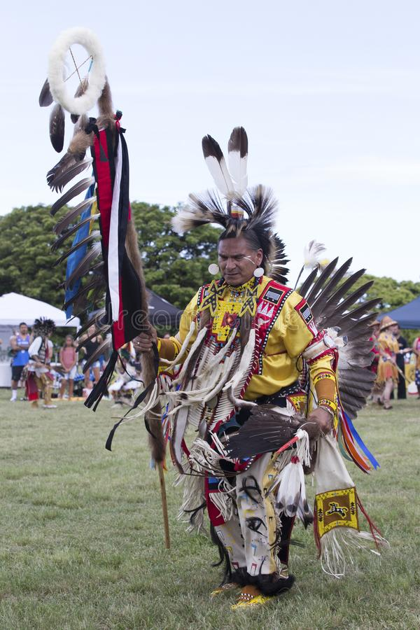 Dançarino Pow Wow fotografia de stock