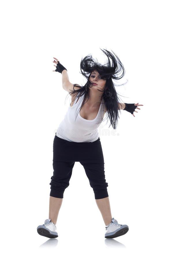 Dançarino que está em seus saltos fotografia de stock