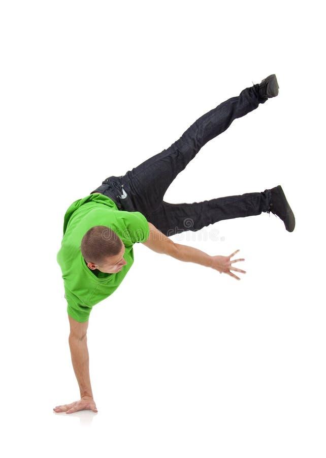 Dançarino que mostra suas habilidades fotografia de stock