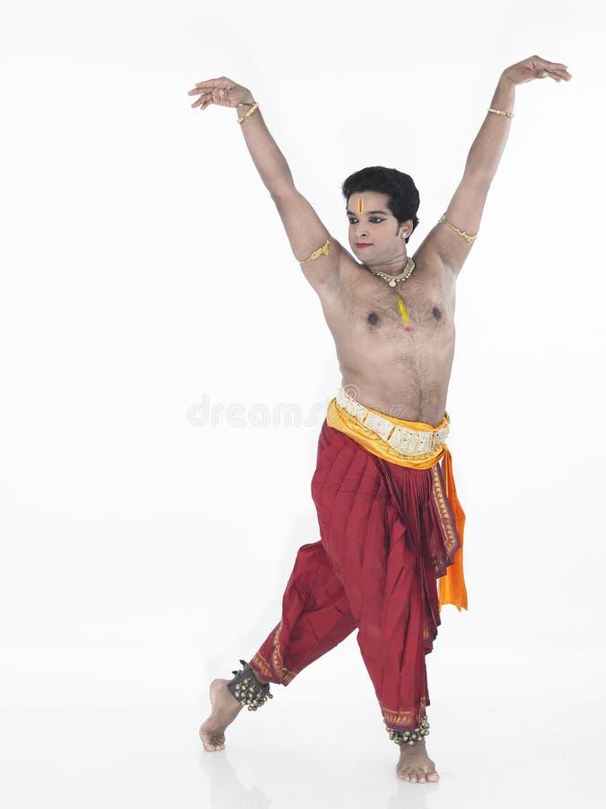 Dançarino tradicional de india foto de stock royalty free