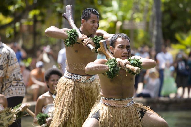 Dançarinos 1587 do Fijian foto de stock