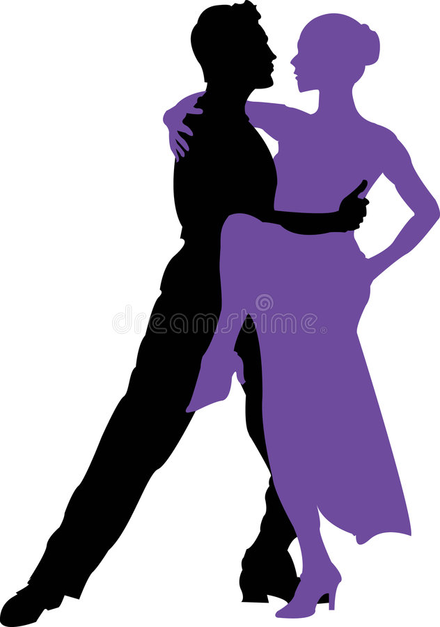 Dançarinos 4 do tango ilustração royalty free