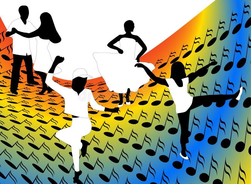Dançarinos ilustração do vetor