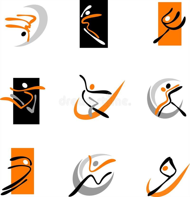 Dançarinos abstratos 1 ilustração stock
