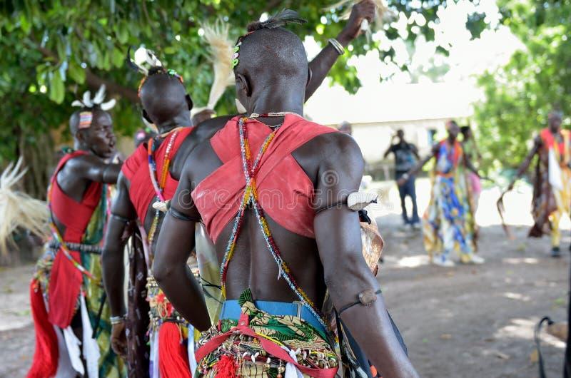 Dançarinos africanos foto de stock