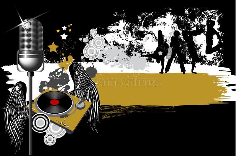 Dançarinos da cidade. ilustração royalty free