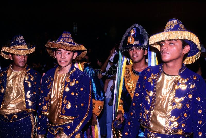 Dançarinos da dança popular brasileira foto de stock royalty free