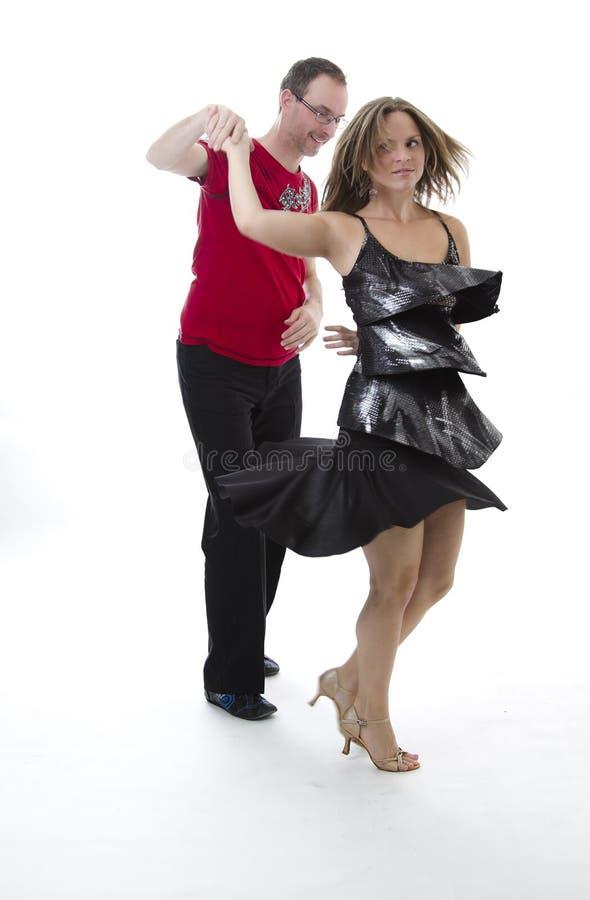 Dançarinos da salsa imagem de stock