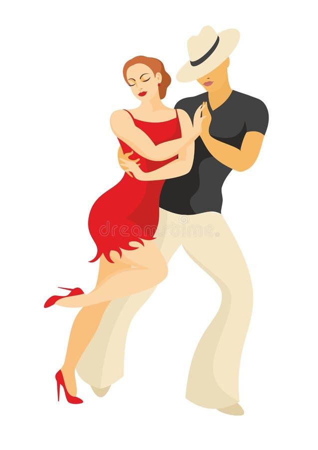 Dançarinos da salsa ilustração stock