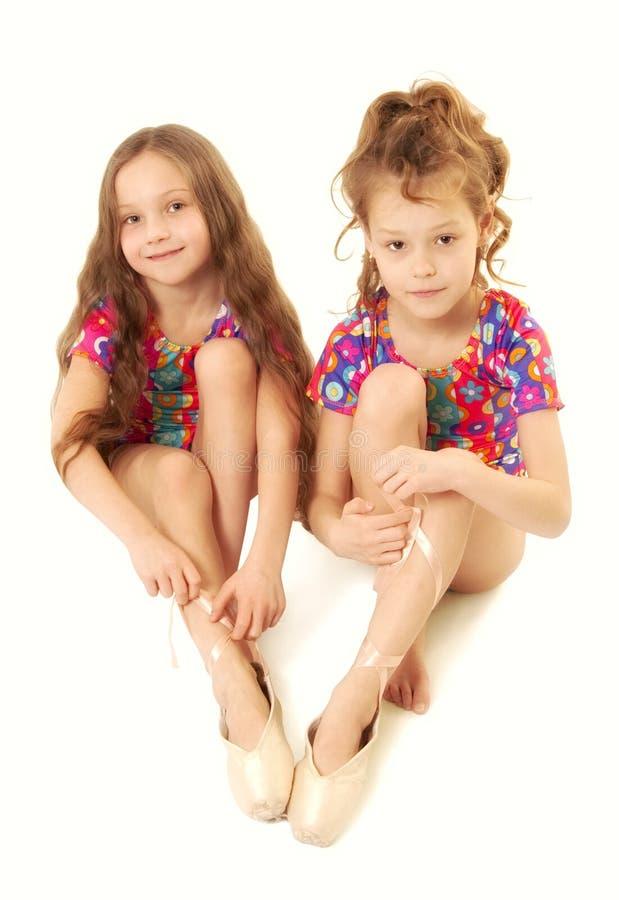 Dançarinos das meninas foto de stock royalty free
