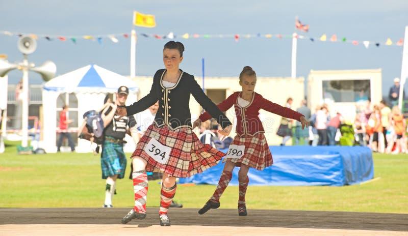 Dançarinos das montanhas. fotografia de stock royalty free
