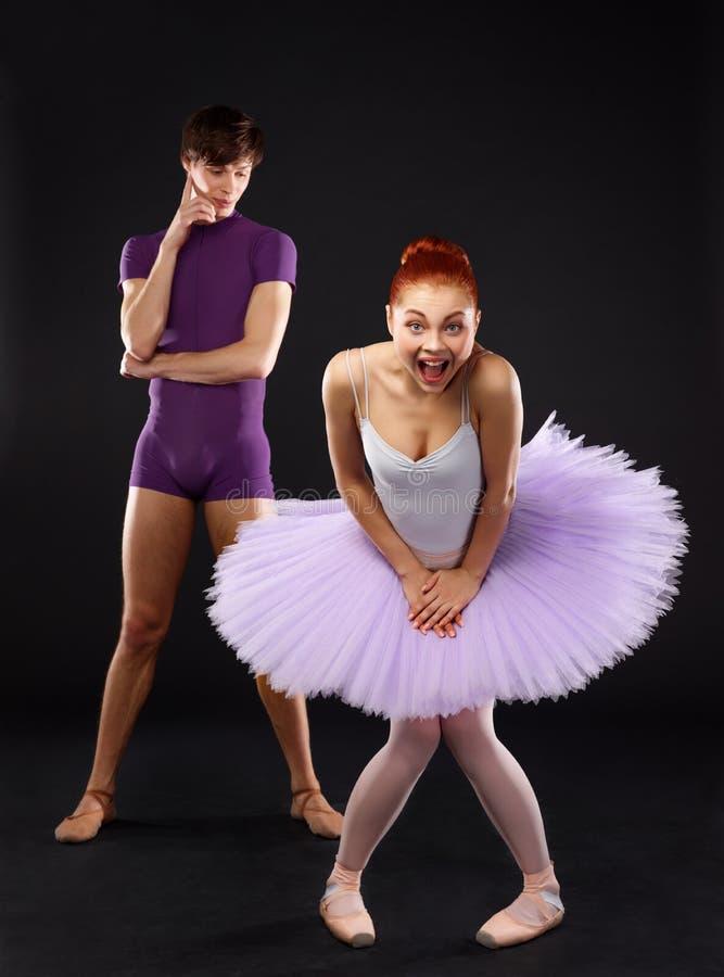 Dançarinos de bailado foto de stock
