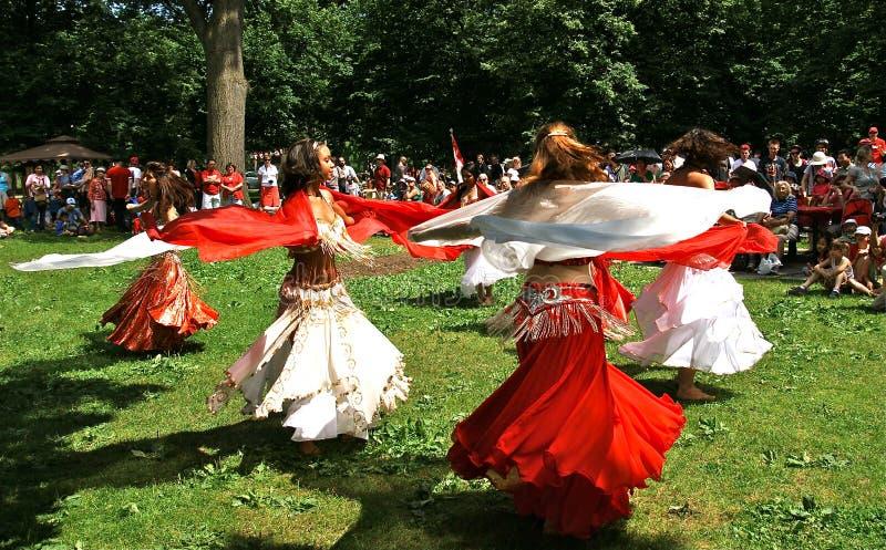 Dançarinos de barriga fotos de stock