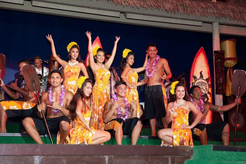 Dançarinos de Hula fotografia de stock