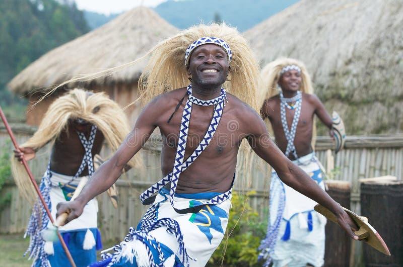 Dançarinos de Intore fotografia de stock