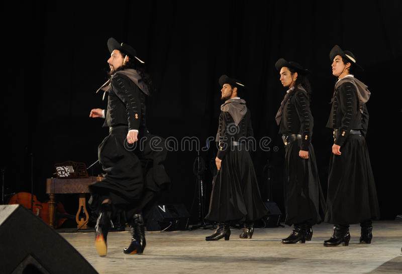 Dançarinos de Malambo fotografia de stock