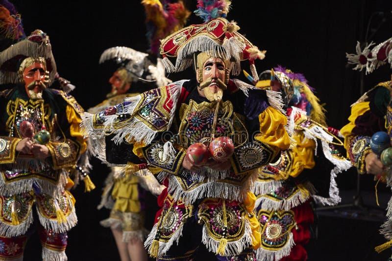 Dançarinos do bailado Moderno Y Nacional folclo'rico da Guatemala foto de stock royalty free