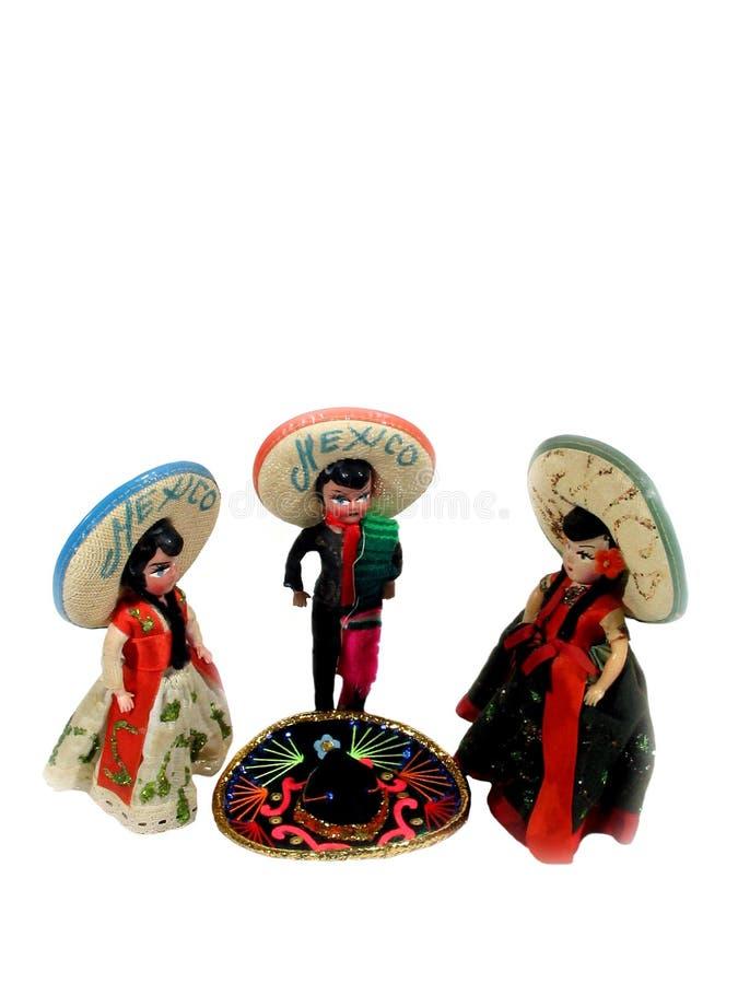 Dançarinos do chapéu mexicano fotos de stock