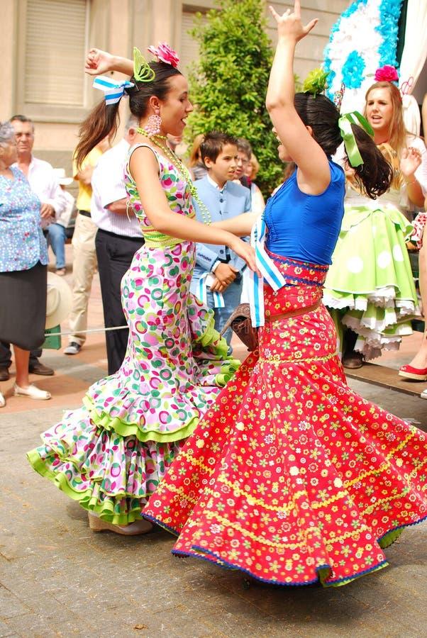 Dançarinos do Flamenco fotos de stock royalty free