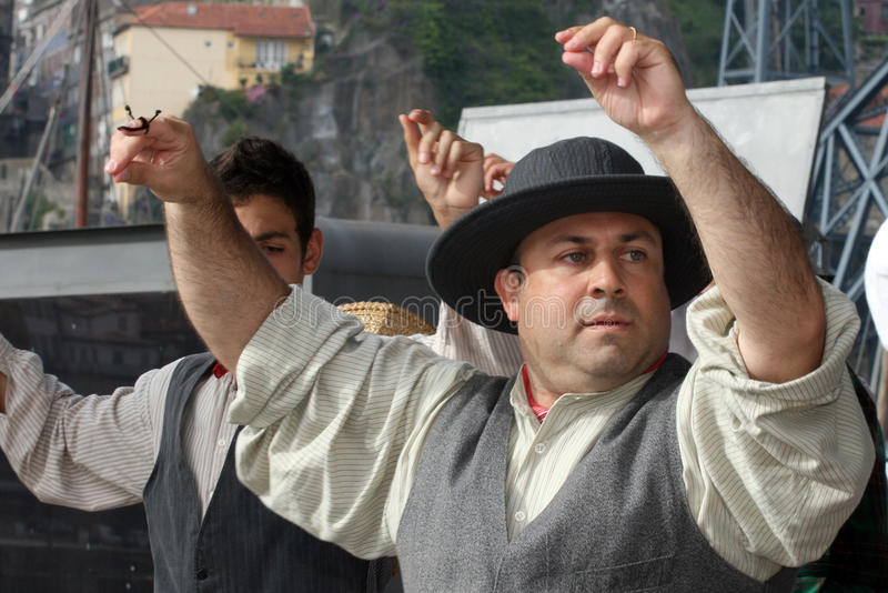 Dançarinos do folclore foto de stock